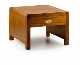 Luxusný masívny koloniálny konferenčný stolík so zásuvkou Flash