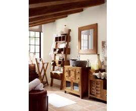 Štýlová kúpeľňa Star z masívneho dreva mindi v hnedej farbe