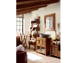 Štýlová kúpeľňa Star z masívneho dreva mindi