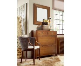 Exkluzívny nábytok do predsiene z kolekcie Star z masívneho dreva mindi hnedej farby