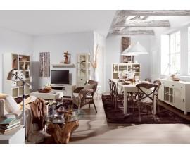 Obývačka s jedálňou New White