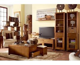 Elegantná obývačka Star z masívneho dreva hnedej farby