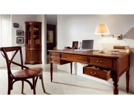 Rustikálna luxusná pracovňa M-VINTAGE z masívneho mahagónového dreva