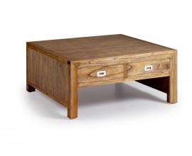 Luxusný masívny konrefenčný stolík so štyrmi zásuvkami Merapi