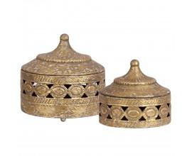 Set kovových šperkovníc 2ks ( 21cm a 18cm)