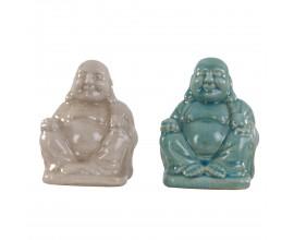 Šťastný Budha 16cm (modrý alebo béžový) 1ks