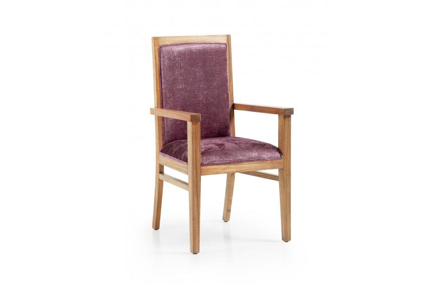 Luxusná elegantná stolička s lakťovými opierkami čalunená Merapi