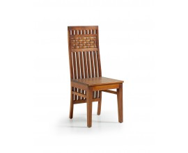Dizajnová drevená jedálenská stolička Star z masívu 105cm