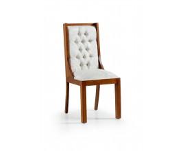 Chesterfield luxusná jedálenská stolička Star z masívneho dreva 105cm