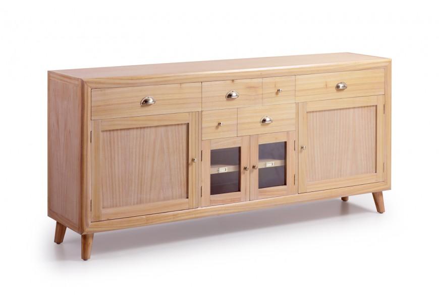 Luxusný elegantný príborník Bromo je vyrobený z exotického dreva Mindi