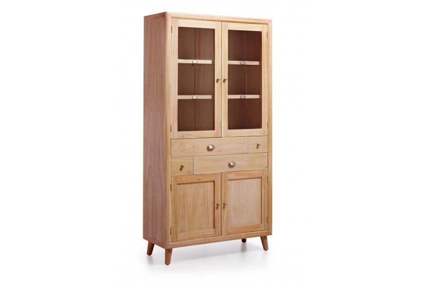 Elegantná luxusná vitrína je vyrobená z exotického dreva Mindi, ktoré je veľmi cenené pre svoje vlastnosti