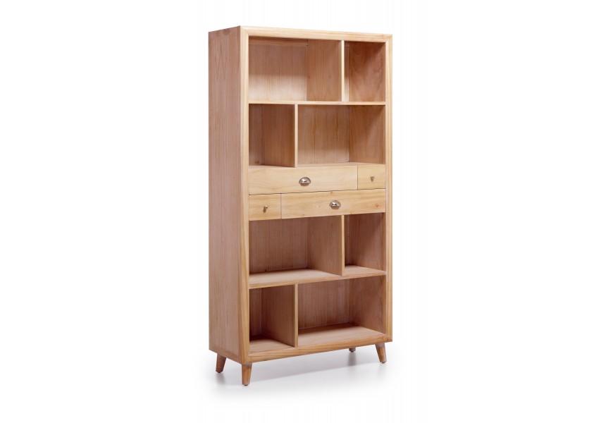 Luxusná štýlová knižnica je vyrobená z exotického dreva Mindi, ktoré je veľmi cenené pre svoje vlastnosti
