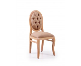 Luxusná elegantná stolička čalunená Bromo z masívu