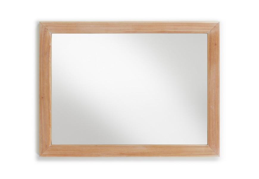 Elegantné zrkadlo Bromo 120x90 je vyrobené z exotického dreva Mindi, ktoré je veľmi cenené pre svoje vlastnosti