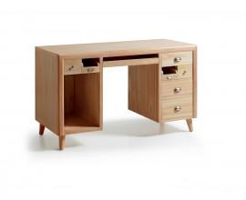 Štýlový luxusný písací stôl z masívu s výsuvnou doskou Bromo