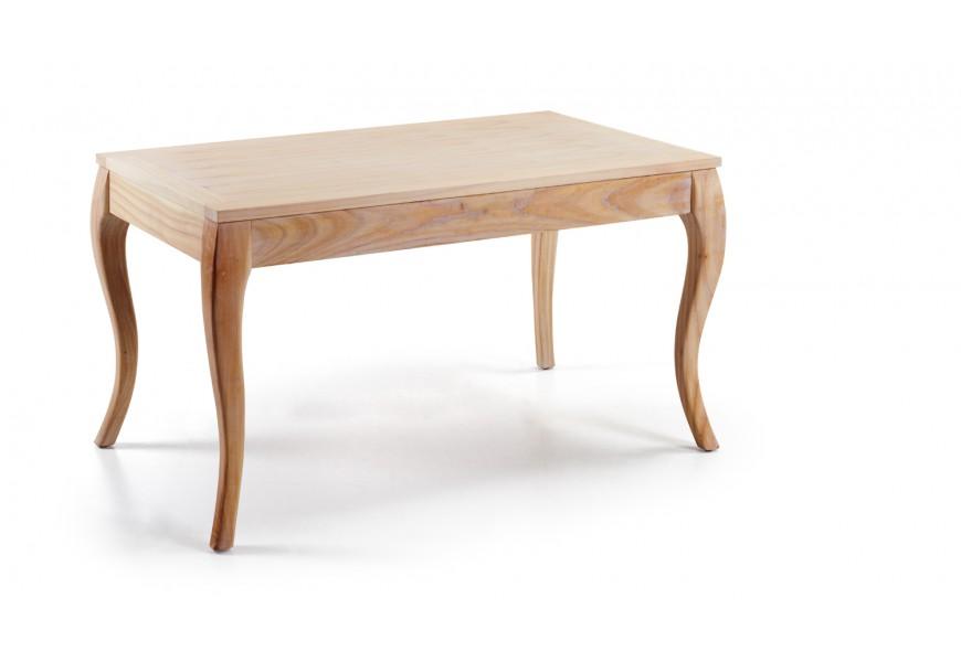 Drevený rozkladací jedálenský stôl Bromo svetlohnedej farby