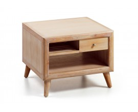 Luxusný masívny konferenčný stolík s dvomi zásuvkami a odkladacím priestorom Bromo