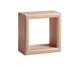 Štýlová štvorcová polička Bromo je vyrobená z exotického dreva Mindi, ktoré je veľmi cenené pre svoje vlastnosti