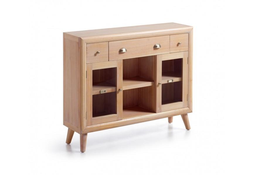 Štýlová konzola je vyrobená z exotického dreva Mindi, ktoré je veľmi cenené pre svoje vlastnosti