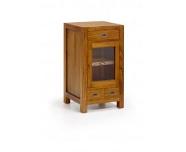 Masívny luxusný príručný príručný stolík Star s dvierkami a zásuvkami 80cm