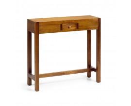 Luxusný konzolový stolík  Star z dreva mindi so zásuvkou 80cm