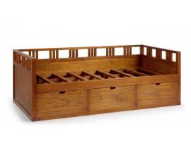 Moderná masívna posteľ s úložným priestorom Star (bez matraca)