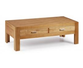 Luxusný štýlový konferenčný stolík s dvomi zásuvkami Natural
