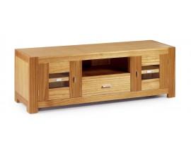 Luxusný štýlový TV stolík s dvomi dvierkami a zásuvkou Natural
