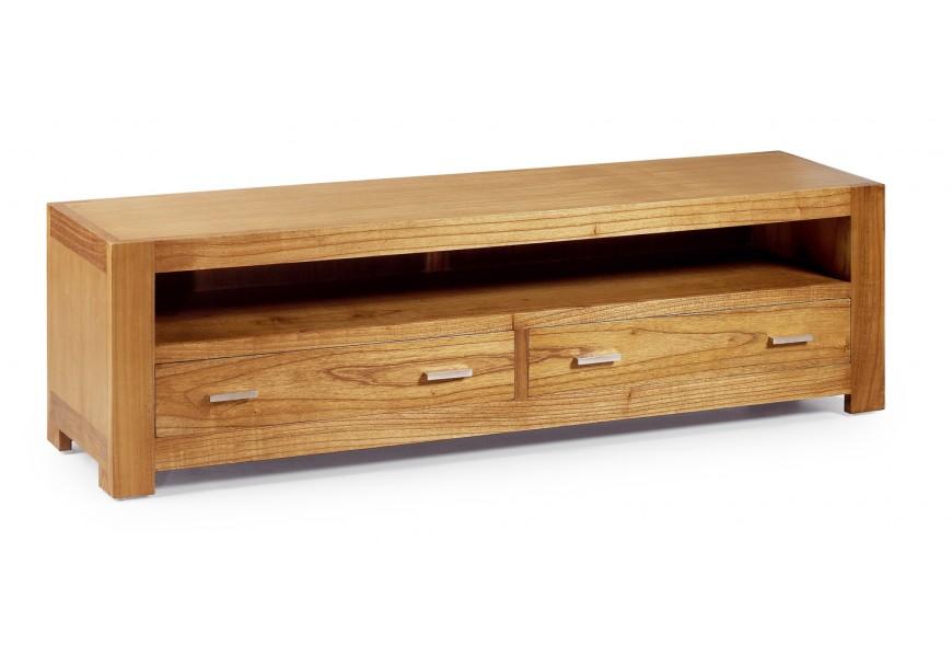 Luxusný štýlový TV stolík s dvomi zásuvkami Natural