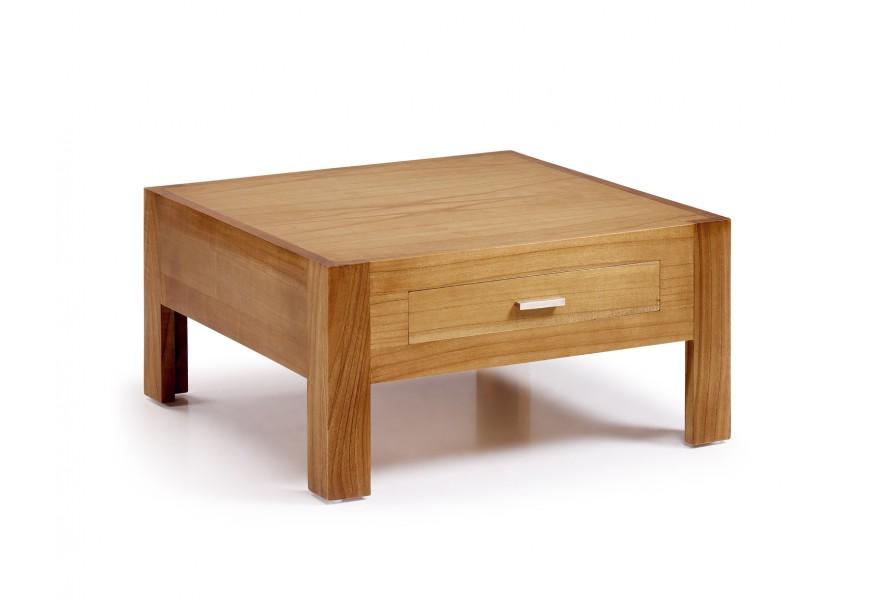 Luxusný štýlový konferenčný stolík so zásuvkou Natural