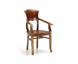 Rustikálna jedálenská stolička Star s vyrezávaným operadlom 94cm