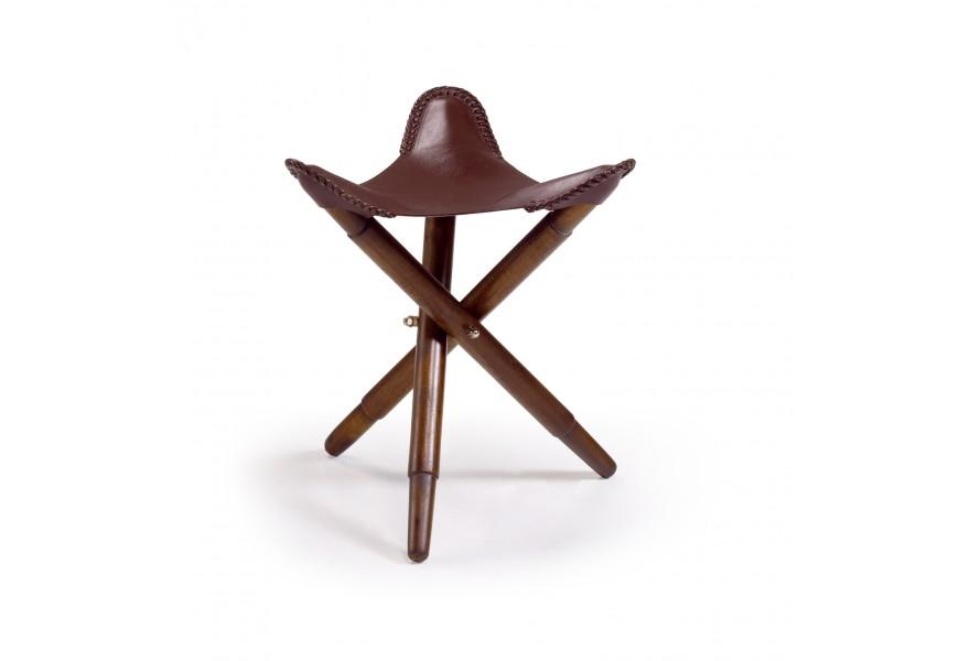 Štýlová skladacia stolička z kože Poly piel