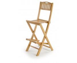 Štýlová barová skladacia stolička z teakového dreva Jardin