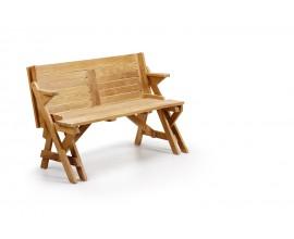Dizajnová lavica a stôl Teak v jednom Jardin