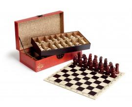 Luxusný šach v koženom púzdre 43cm