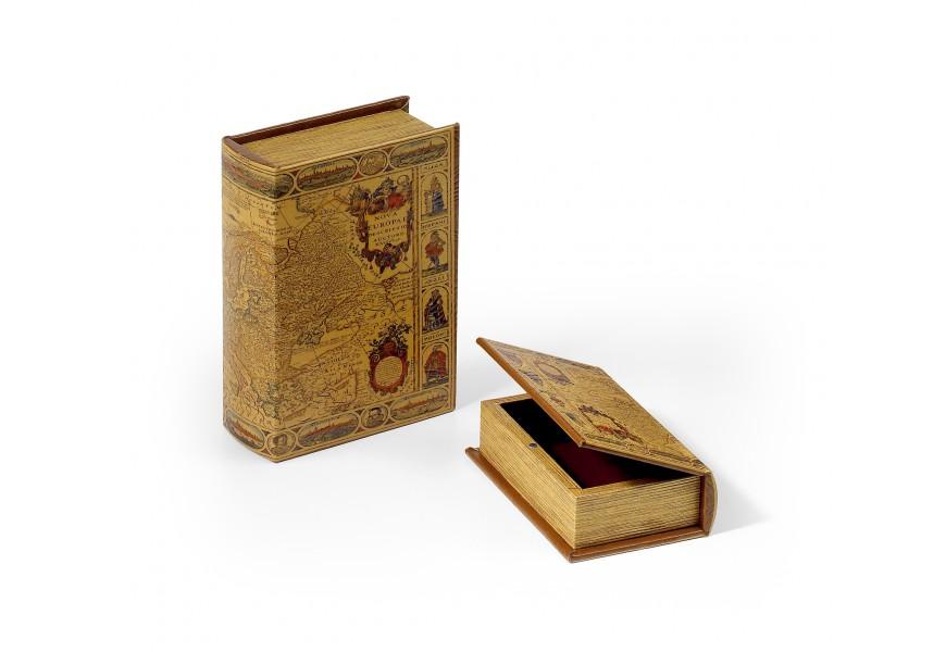 Luxusný set kožených dekoračných kníh 2ks 22cm