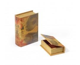 Exkluzívny set kožených dekoračných kníh 2ks 22cm