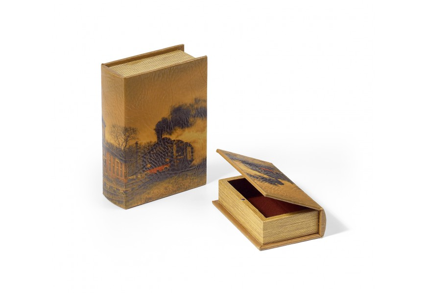 Set kožených dekoračných kníh 2ks 22cm