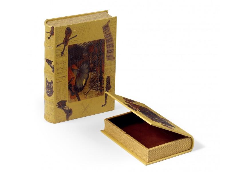 Set kožených dekoračných kníh 2ks 33cm
