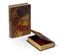 Set kožených dekoračných kníh 2ks 33cm Klimt