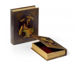 Set kožených dekoračných kníh 2ks  30cm