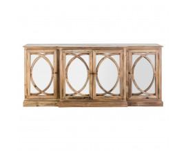 Príborník NATURAL so zrkadlovými dvierkami