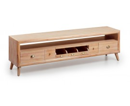 Luxusný TV stolík s piatimi zásuvkami Bromo v retro štýle