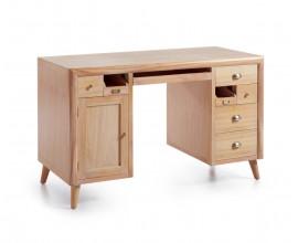 Štýlový písací stôl s výsuvnou doskou v retro štýle Bromo