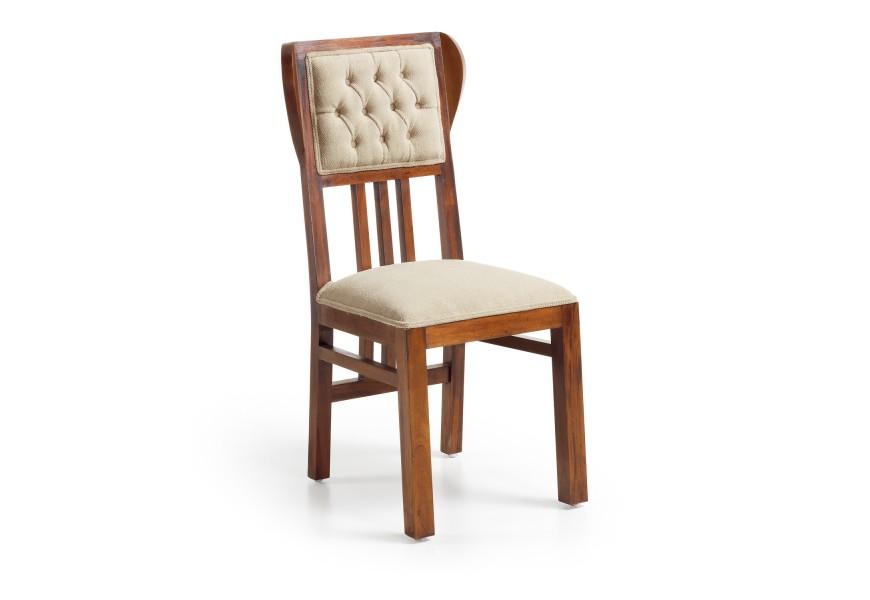 Luxusná čalúnená stolička Flamingo z mahagónového dreva čerešňovej farby