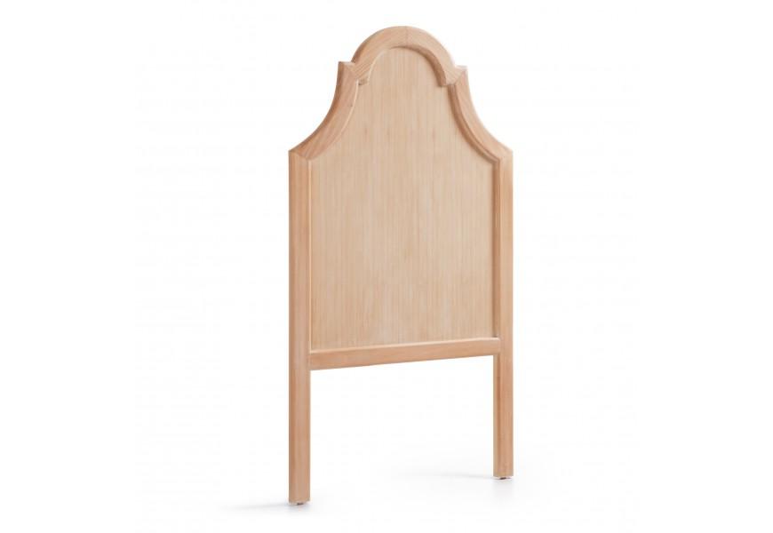 Luxusné zadné čelo postele Bromo široké 100cm je vyrobené z exotického dreva Mindi, ktoré je veľmi cenené pre svoje vlastnosti