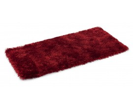 Exkluzívny bordový koberec Shaggy 120x60