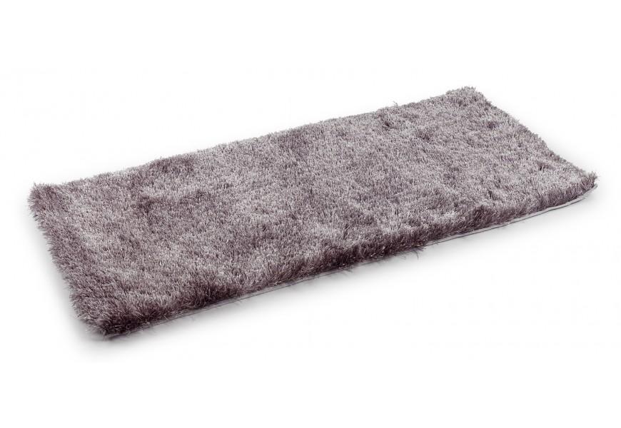 Exkluzivný sivý koberec Shaggy 120x60