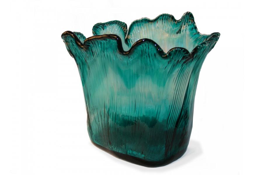 Štýlová tyrkysová váza 22cm