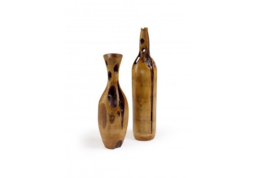 Drevená váza EROSI  kužel 40cm (kus vľavo)